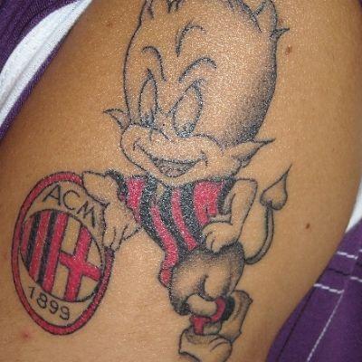 Tatuaggio Tattoo Milan Diavolo Rossonero