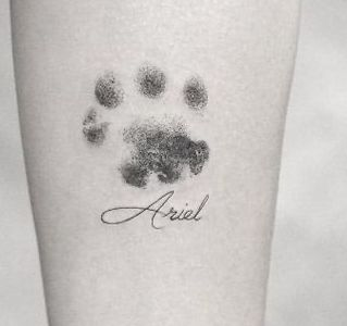 Tatuaggio Tatto Cane Nome