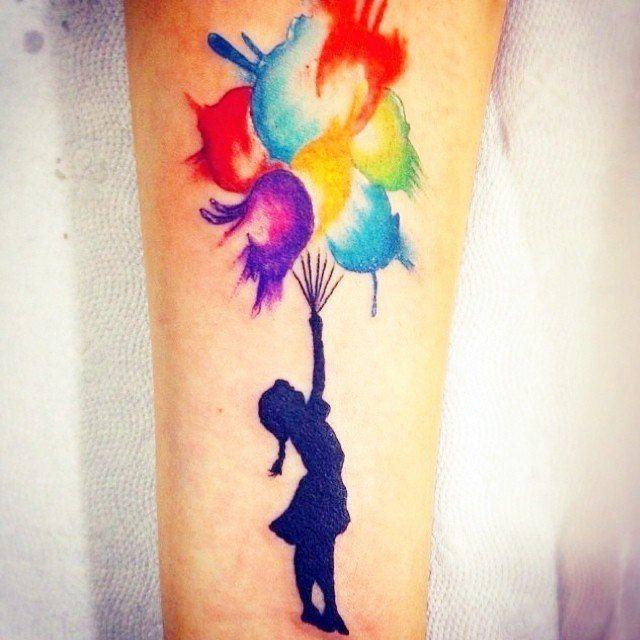 Tatuaggio Tattoo Palloncino Bambina