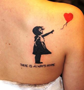 Tatuaggio Tattoo Palloncino Bansky