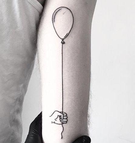 Tatuaggio Tattoo Palloncino Bianco Nero