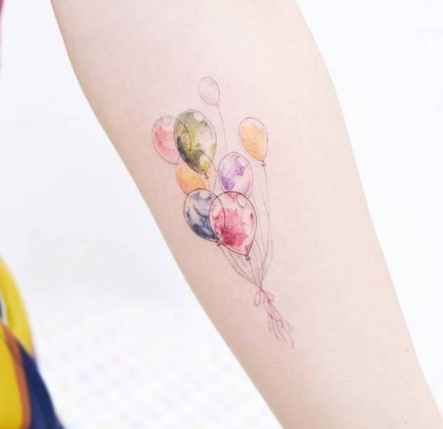 Tatuaggio Tattoo Palloncino Colorati