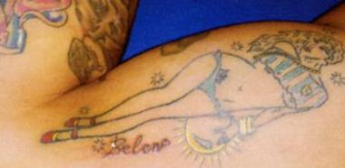 Tatuaggio Tatto Fabrizio Corona Pin Up Belen