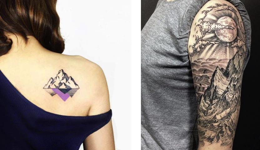 Tatuaggio Tatto Montagna Piccolo e Grande