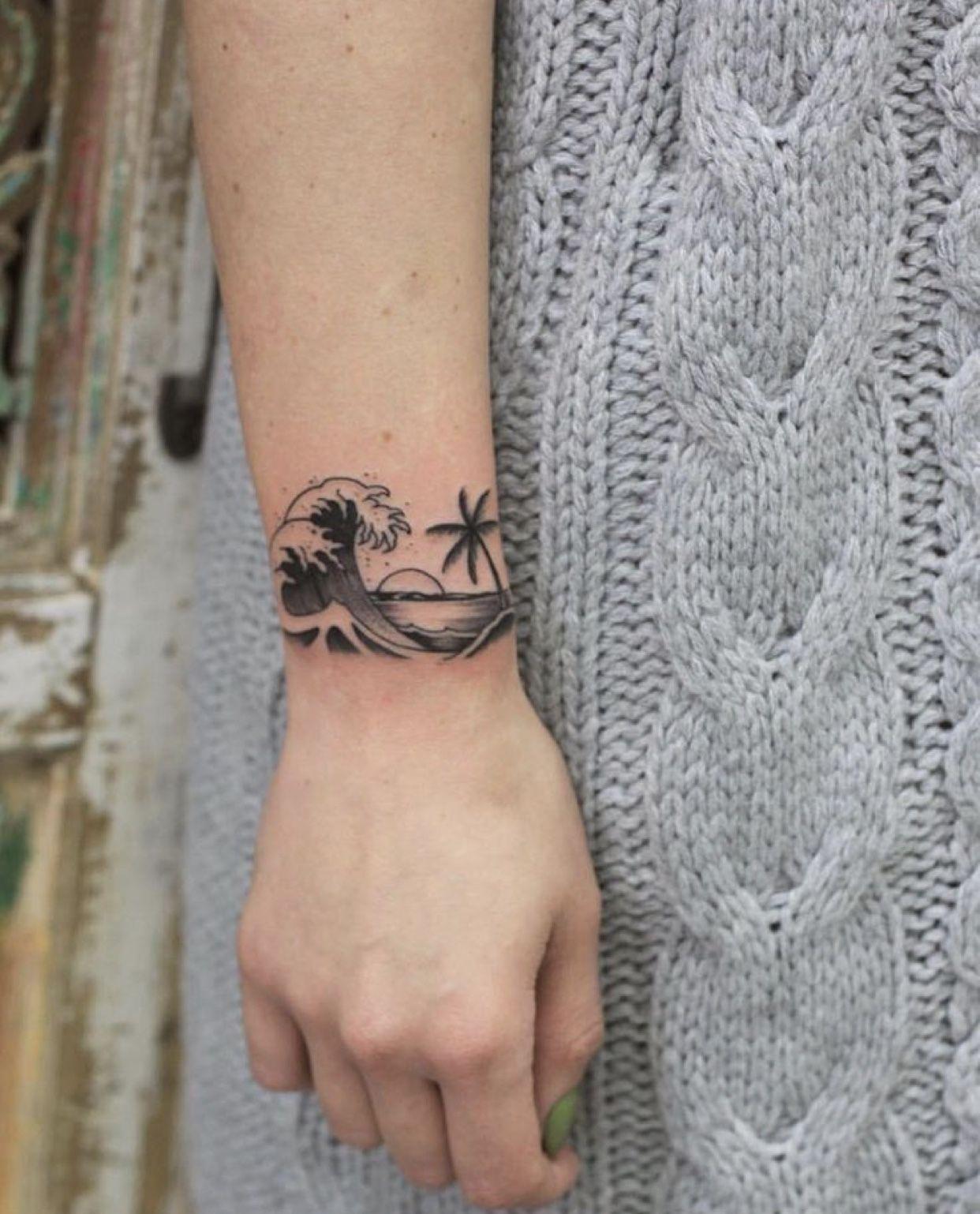 Tatuaggio Tattoo Onda Spiaggia
