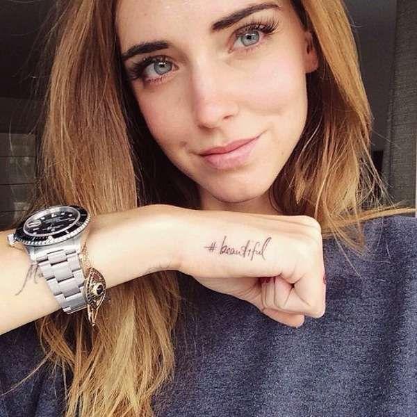 Tatuaggio Tattoo Chiara Ferragni