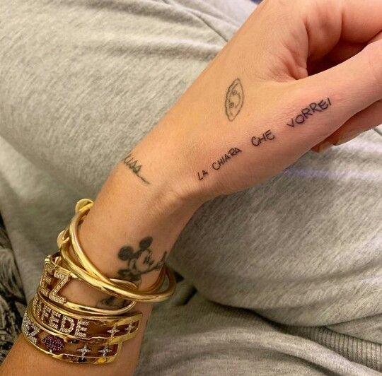 Tatuaggio Tattoo Chiara Ferragni La Chiara Che Vorrei
