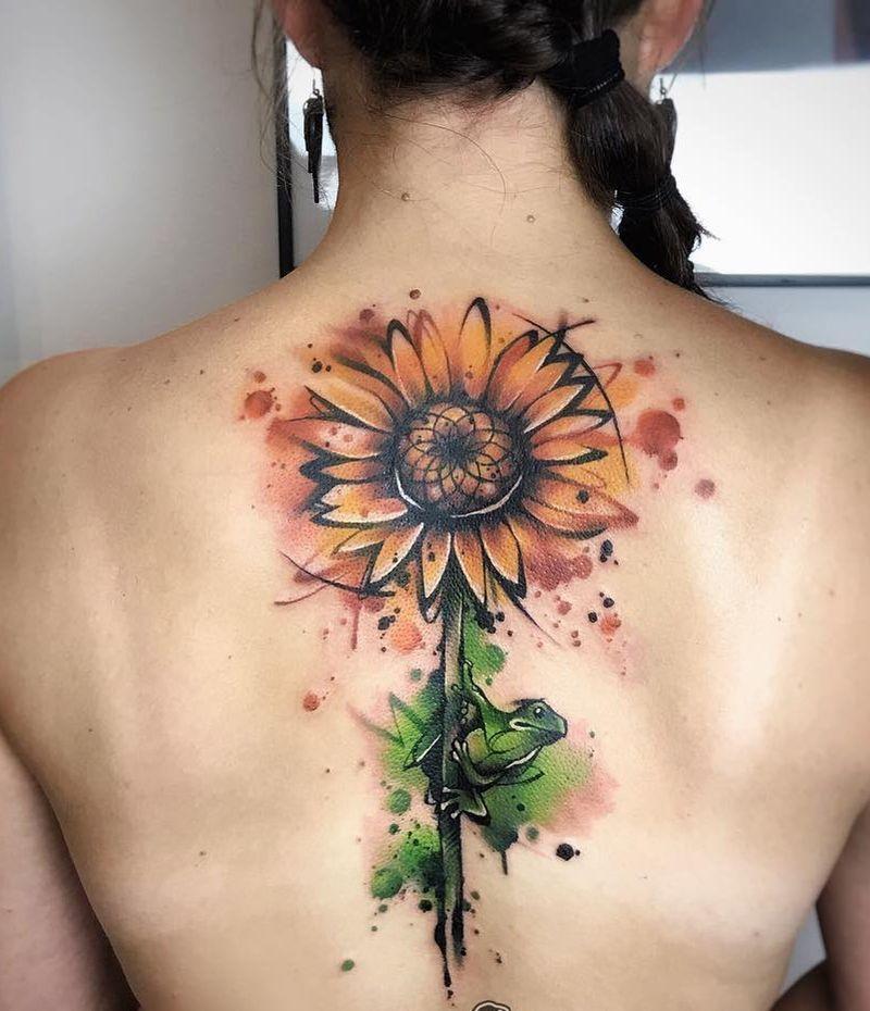 Tatuaggio Tattoo Girasole Grande