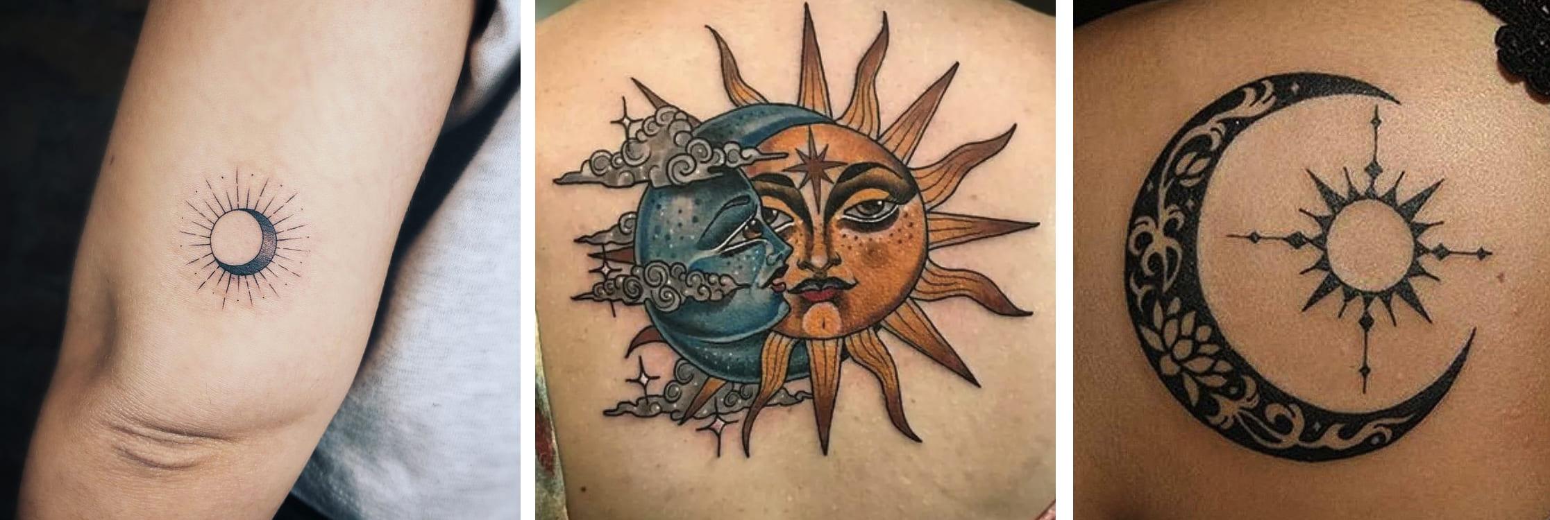 Tatuaggio Tattoo Luna Sole
