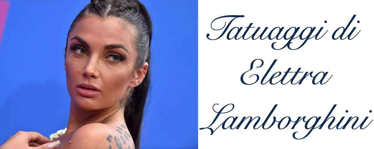 Tatuaggio Tattoo Elettra Lamborghini Quali Sono