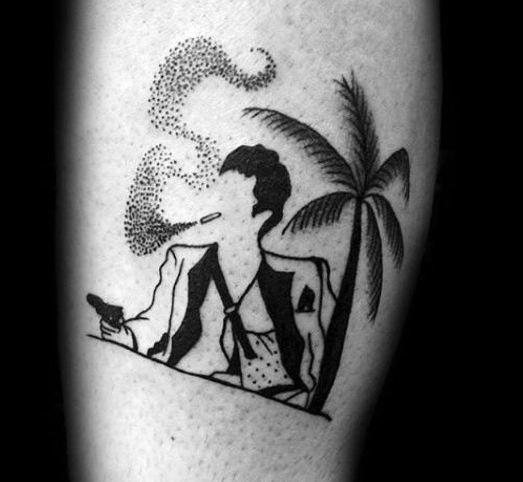 Tatuaggio Tattoo Tony Montana Stilizzato
