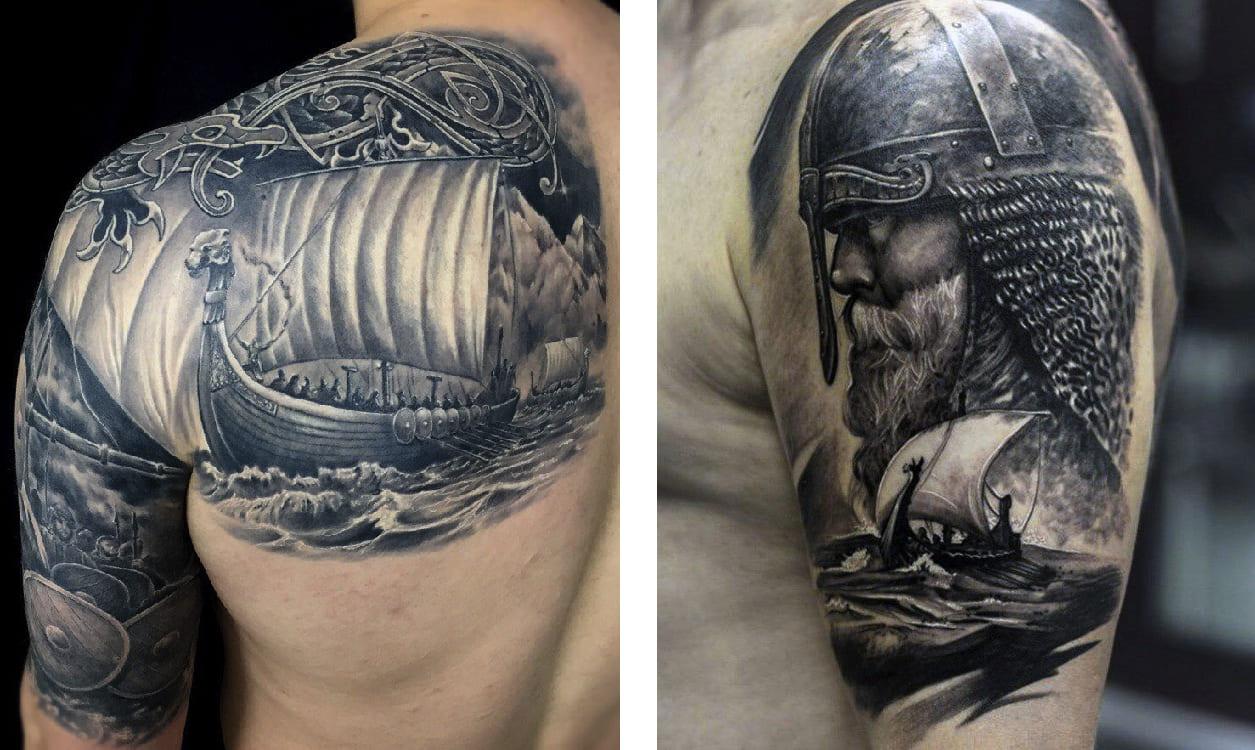 Tatuaggio Tattoo Vichingo Nave