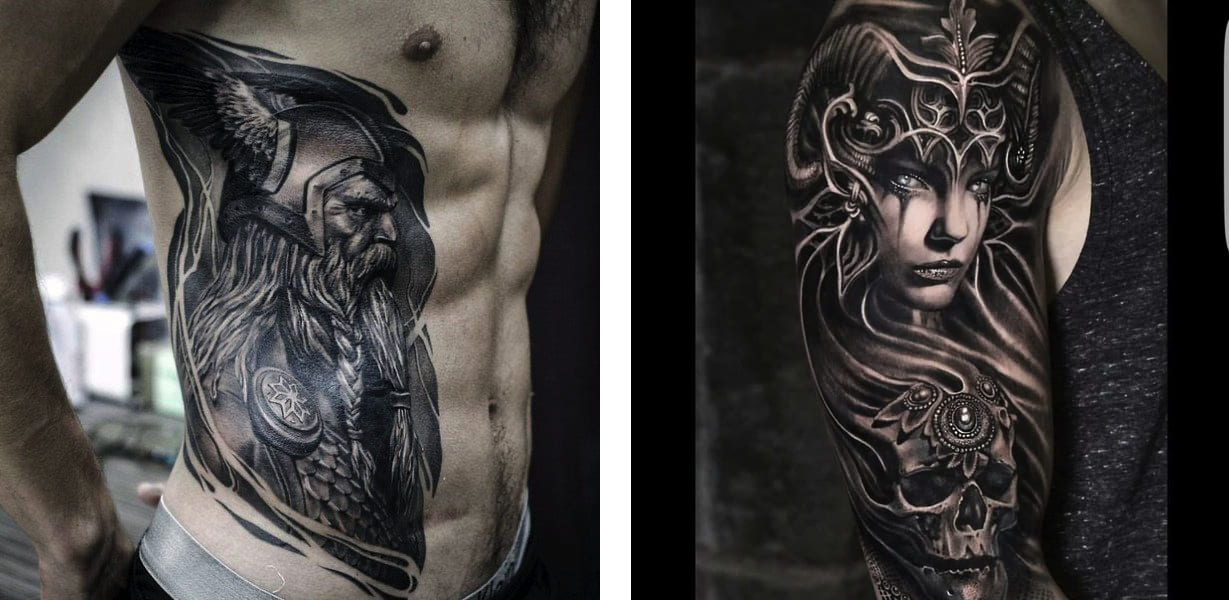 Tatuaggio Tattoo Vichingo Uomo Donna